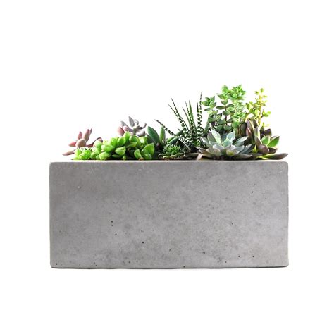 concrete planters rectangular concrete planter fusion touch of modern