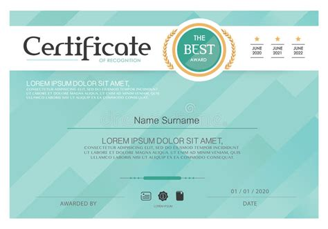 instructional design certificate uk blue certificate vector certificate template modern style