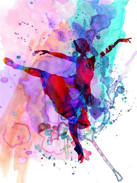 Ballerina Duvet Ballerina S Dance Watercolor 1 Painting By Naxart Studio