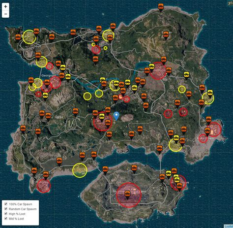 pubg vehicle spawns pubg 武器ルート 車のインタラクティブマップ gamegeek