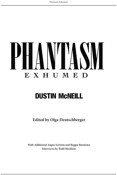 further exhumed the strange of phantasm ravager books exclusive peek inside phantasm exhumed with page sles