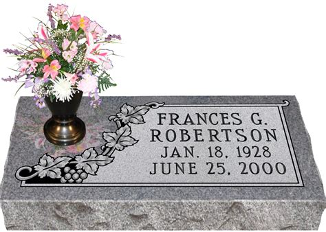 Flat Grave Markers With Vase by Granite Grave Markers With Vase Roselawnlutheran
