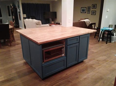 custom made kitchen island handmade custom shaker style kitchen island with butcher block counter by by gordon living