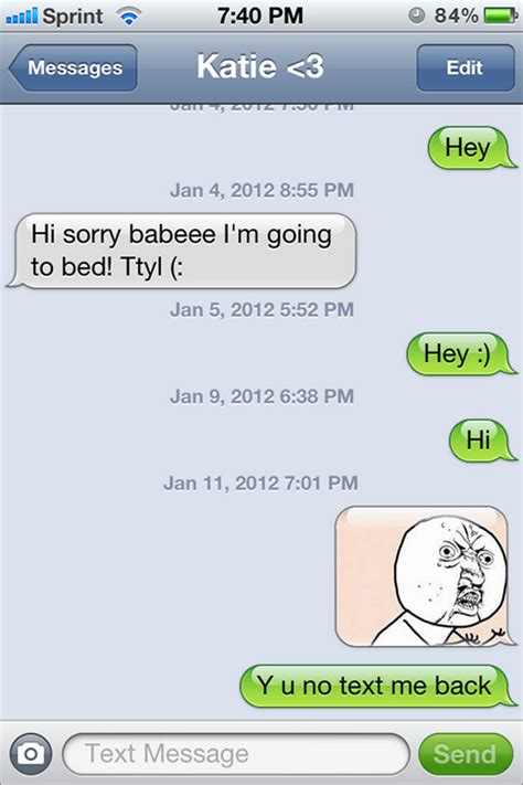 text message responses  people dont text
