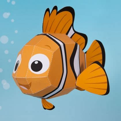 3d Paper Crafts - nemo 3d papercraft disney family