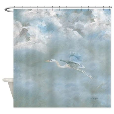 Great Shower Curtains great blue heron amongst the clouds shower curtain by