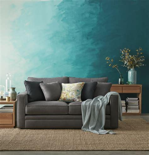 farben wand wohnzimmer wandgestaltung mit farbe ombre wand streichen