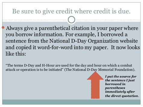 giving credit in a research paper 8th grade research