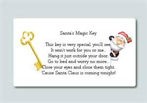 24 christmas santa s magic key poem labels fun stickers medium
