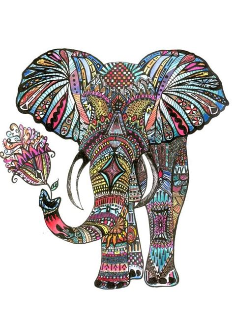 indian elephant doodle mandalas doodles and zentangles in this wonderful