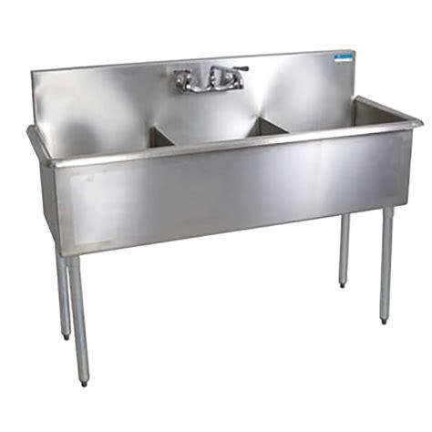 three compartment faucet bk resources bk8bs 3 1821 12 three compartment splash