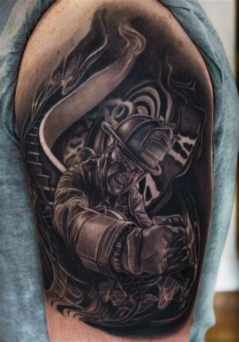 50 firefighter tattoos for men masculine fireman ideas