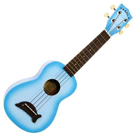 blue ukulele kala makala dolphin ukulele light blue at
