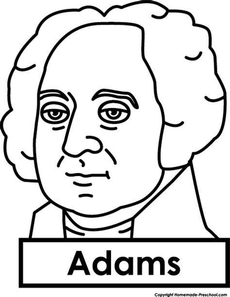 john adams drawing president clipart
