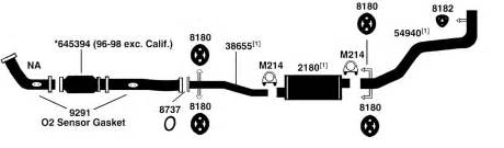 toyota t100 exhaust diagram from best value auto parts