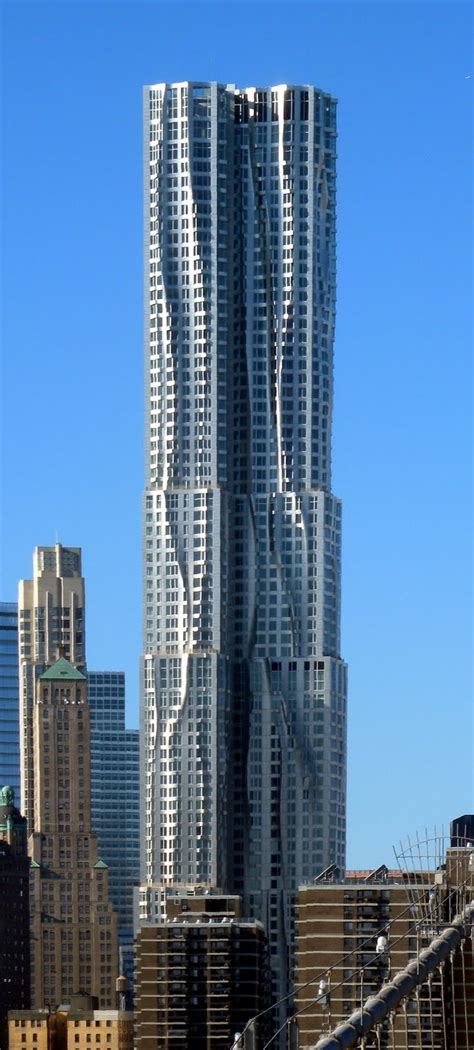 modern buildings new york by gehry at 8 spruce