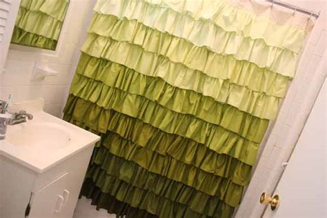 diy ruffle shower curtain diy ruffle shower curtain 187 lovely indeed