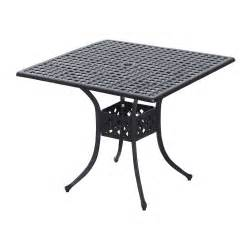 Cast Aluminum Patio Table 36x36 Quot Square Cast Aluminum Outdoor Dining Table Garden Patio Furniture Black Ebay