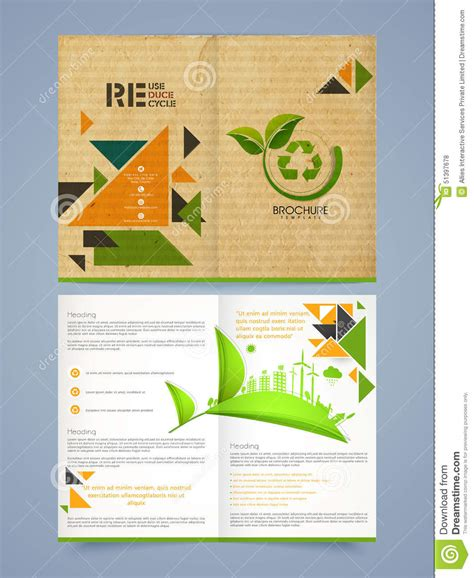 Two Pages Brochure Flyer Or Template For Business Stock Photo Image 51397678 Pages Flyer Templates