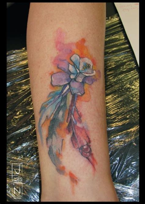 watercolor tattoo grand junction best 25 watercolour feather ideas on