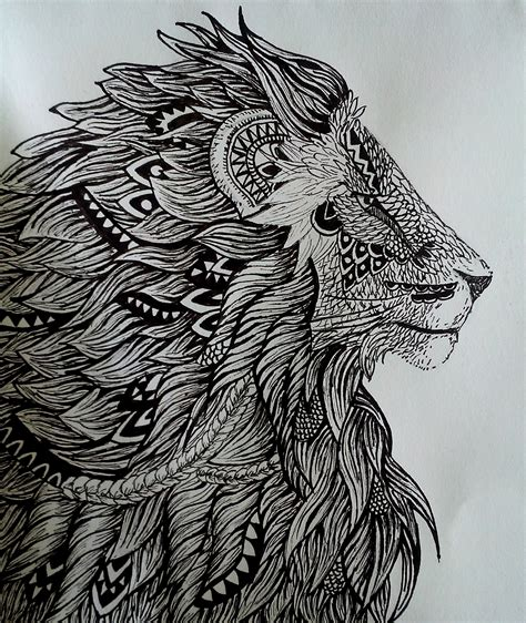 zentangle lion pattern zentangle lion creacions pinterest lions doodles