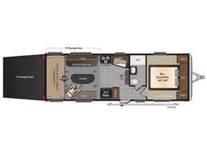 Toy Hauler Travel Trailer Floor Plans by 2016 Impact 260 Floor Plan Toy Hauler Keystone Rv