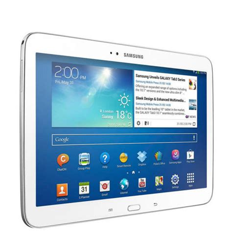 Tablet Samsung 10 Inch samsung galaxy tab 3 wifi 10 1 inch tablet 16 gb white computing zavvi