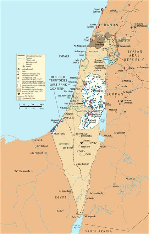 isreal map index of mideast info maps