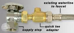 Swivel Faucet Brass Quick Tee Adapters For Ice Makers Dishwashers Amp More