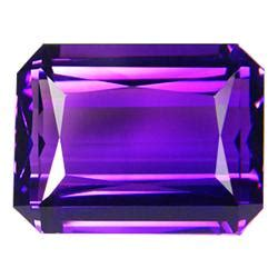 11 45ct purple emerald cut amethyst gem 14771