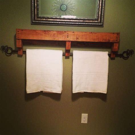 diy bathroom rack towel rack made from old pallets bathroom pinterest