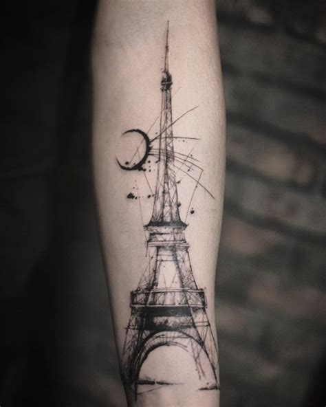 eiffel tower tattoo designs traditional eiffel tower by nate stanbridge