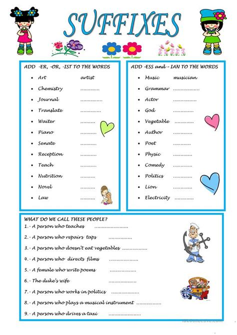 printable suffix games all worksheets 187 suffixes er and or worksheets printable