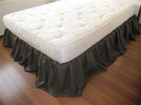 bed ruffles cal king or queen bed skirt dust ruffle solid dark brown