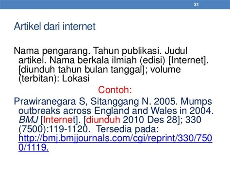 format daftar pustaka internet daftar pustaka standar ipb