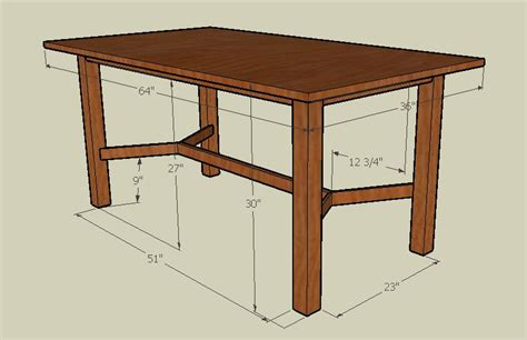 dining room table dimensions using google s sketchup with woodworking custom