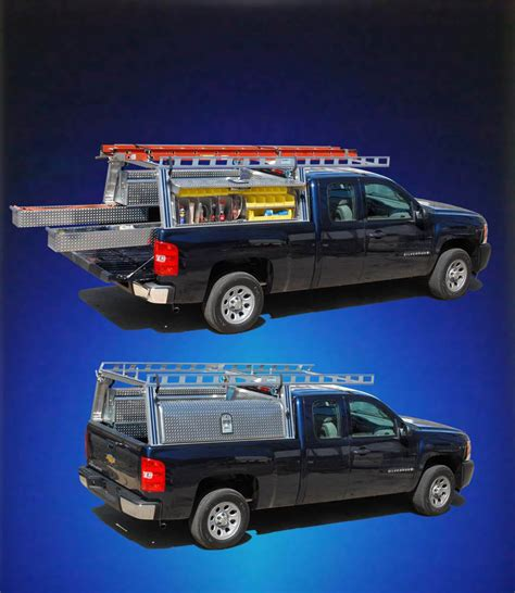 Box Truck Rack System by Aluminum Headache Racks With Tool Box Aluminum Free Engine Image For User Manual