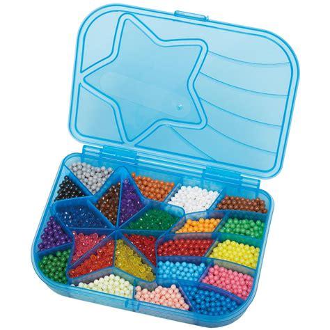 Aquabeads Bead Solid aquabeads mega bead set 24 colors shaped palette tray pen spray ebay
