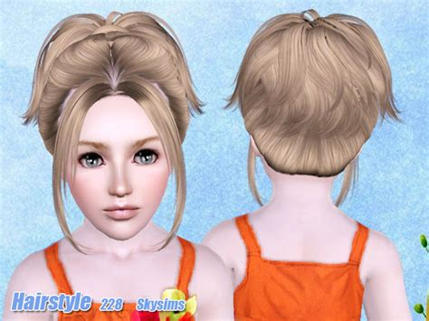 Small Ponytail Hairstyle 228 By Skysims Sims 3 Hairs | small ponytail hairstyle 228 by skysims sims 3 hairs