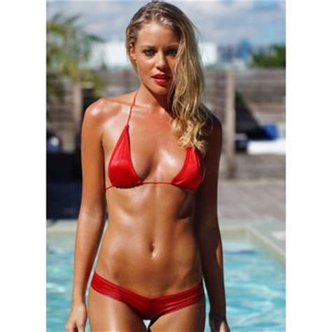 Top Red Living Room string bikini top red string triangle from todd barrett