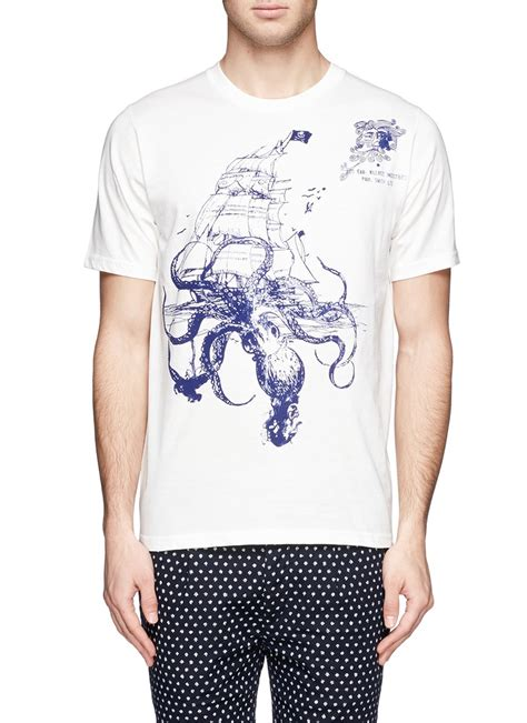 T Shirt Seven Rift Octopus lyst paul smith octopus print t shirt in white for