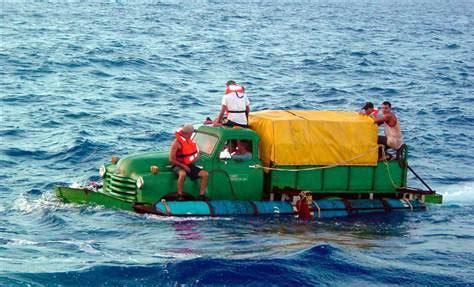 boat from miami to cuba truck sailing cubans finally reach u s us news nbc news