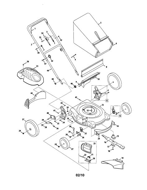 mtd lawn mower parts diagram mtd lawn mower parts model 54m7 sears partsdirect