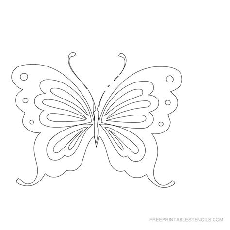butterflies templates to print butterfly template to print az coloring pages
