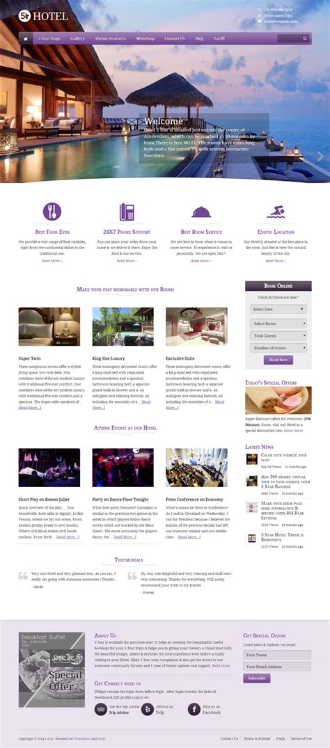 great wordpress booking  reservation themes wp mayor