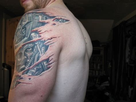 tattoo robotic shoulder biomechanical shoulder and arm tattoo picture at