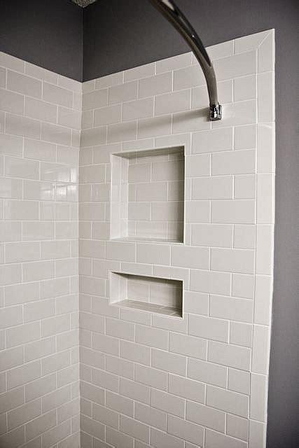 bathroom bullnose tile trim white subway tile shower niche with bullnose edge tile
