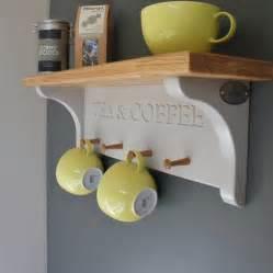 tea and coffee shelf with mug rack by chatsworth cabinets