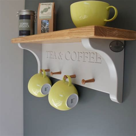 Shelf Mug Rack by Tea And Coffee Shelf With Mug Rack By Chatsworth Cabinets