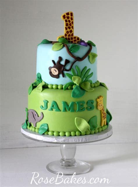 Baby Shower Safari Cake by Jungle 1st Birthday Cake Amp Smash Cake Rose Bakes